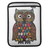 Patchwork Owl Sleeve For iPads