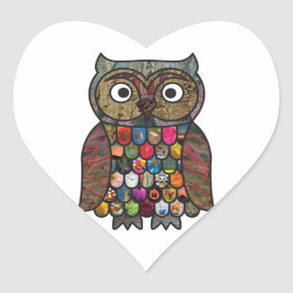 Patchwork Owl Stickers