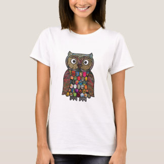 Patchwork Owl T-Shirt