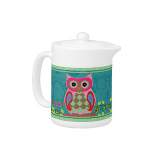 Patchwork Owl Teapot