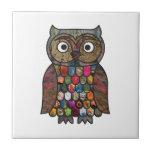Patchwork Owl Tile