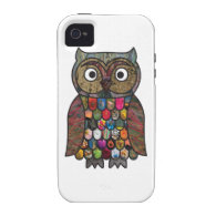 Patchwork Owl Vibe iPhone 4 Cases