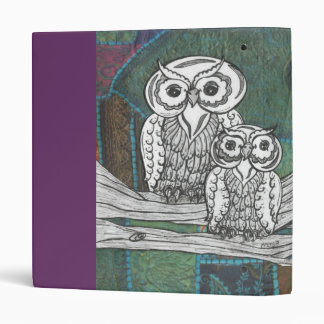 Patchwork Owls 3 Ring Binder