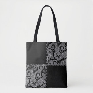 Patchwork Paisley and Chains Tote Bag