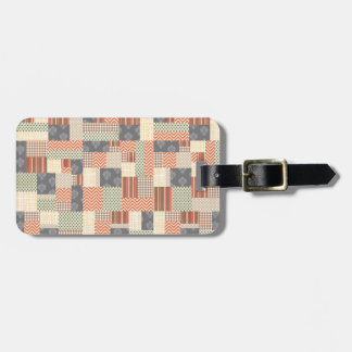 Patchwork Parquet Luggage Tag