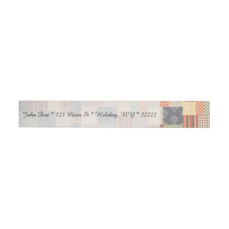 Patchwork Parquet Wrap Around Address Label