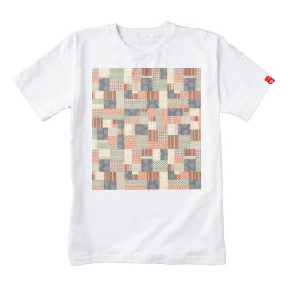Patchwork Parquet Zazzle HEART T-Shirt