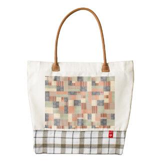 Patchwork Parquet Zazzle HEART Tote Bag