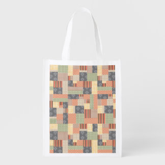 Patchwork Parquet Grocery Bags