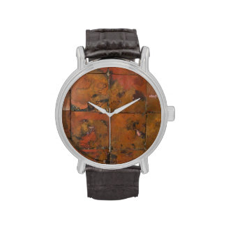 Patchwork patinaed copper watches