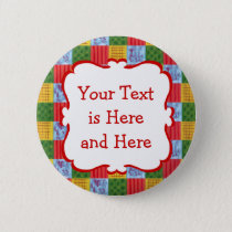 Patchwork Pattern Painting Button