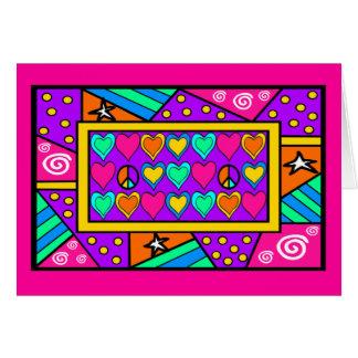 PATCHWORK PEACE & LOVE CARD