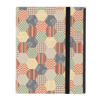 Patchwork Pentagon Pattern iPad Folio Case