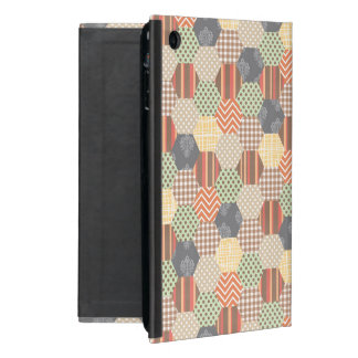 Patchwork Pentagon Pattern iPad Mini Case