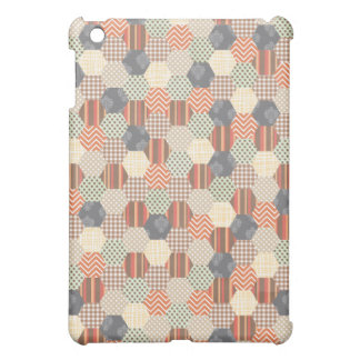 Patchwork Pentagon Pattern iPad Mini Cover