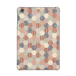 Patchwork Pentagon Pattern iPad Mini Covers