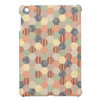 Patchwork Pentagon Pattern Cover For The iPad Mini