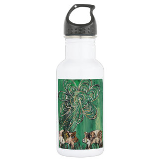 Patchwork Pigs Water Bottle