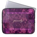 Patchwork Purple Personalized Laptop Sleeve Electr
