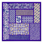 Patchwork Purple Print