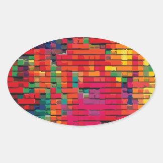 Patchwork Quilt #1 Oval Sticker