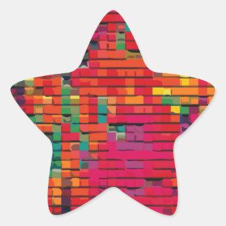 Patchwork Quilt #1 Star Sticker