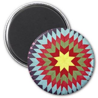 Patchwork quilt 2 inch round magnet