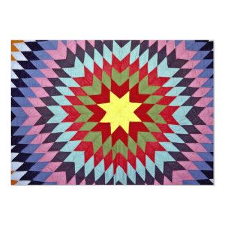 Patchwork quilt 5x7 paper invitation card