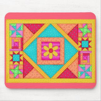 Patchwork Quilt Art Mousepad