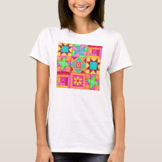 Patchwork Quilt Block Art Tee Shirt