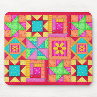 Patchwork Quilt Blocks Mousepad