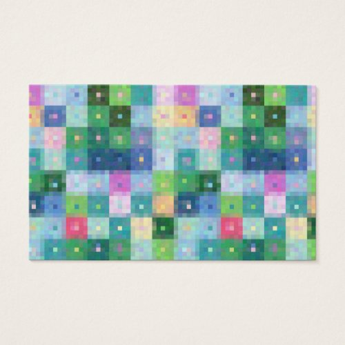 Patchwork Quilt blocks pattern Business Card
