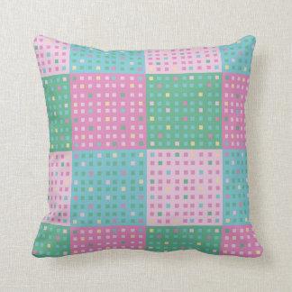 Patchwork quilt blocks pillows