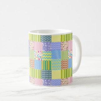 Patchwork Quilt Chevron Stripes Polka Dots Flowers Coffee Mug
