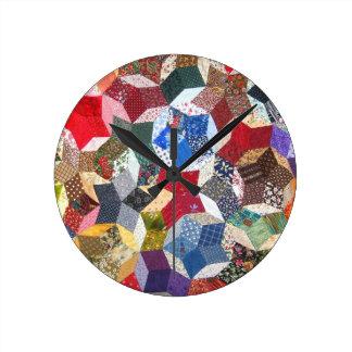 Patchwork Quilt Round Wallclock
