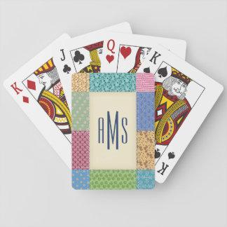 Patchwork Quilt Custom Monogram Card Decks