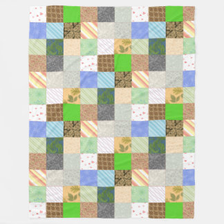 Patchwork Quilt Fleece Blanket