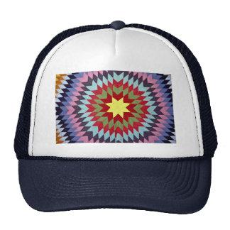 Patchwork quilt trucker hat