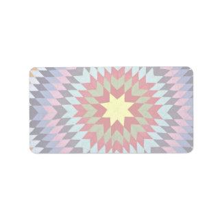 Patchwork quilt label