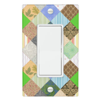 Patchwork Quilt Light Switch Cover