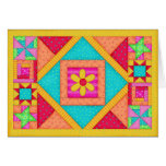 Patchwork Quilt Note Card / Greeting Card