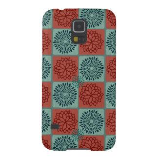Patchwork Quilt Pattern Red Blue Flower Art Design Samsung Galaxy Nexus Case