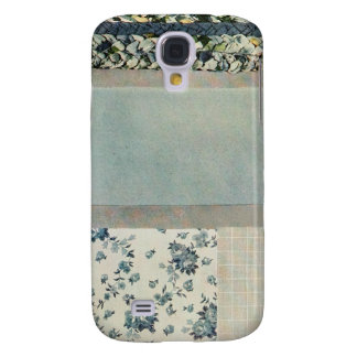 Patchwork Quilt Phone Case in Blue Galaxy S4 Cases