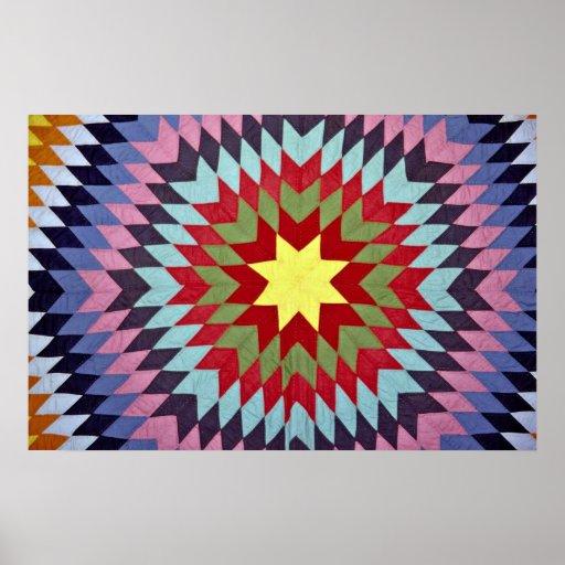 Patchwork quilt poster