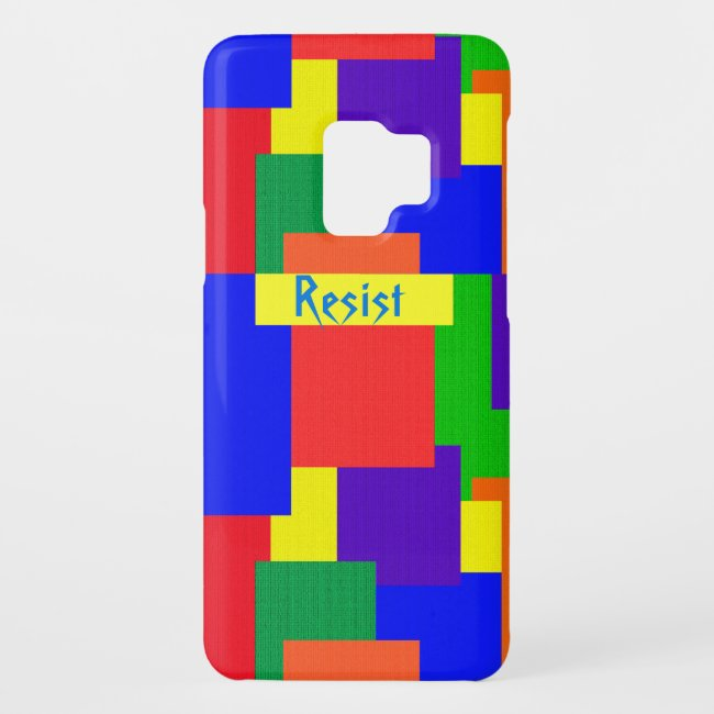 Patchwork Quilt Rainbow Resist Galaxy S9 Case