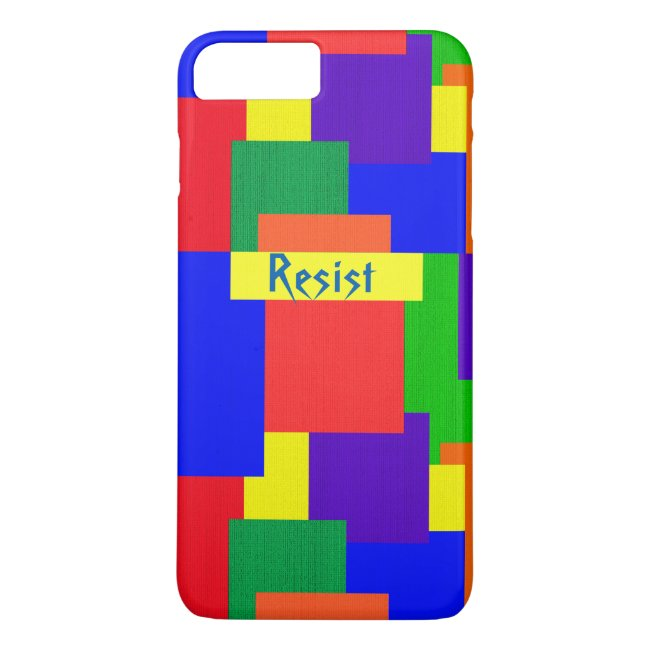 Patchwork Quilt Rainbow Resist iPhone 7 Plus Case