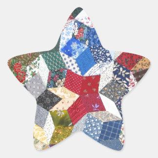 Patchwork Quilt Star Sticker