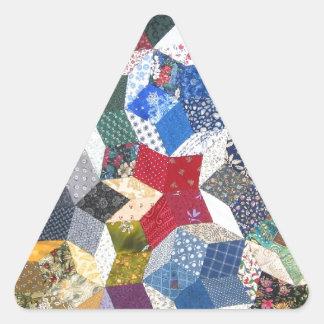 Patchwork Quilt Triangle Sticker