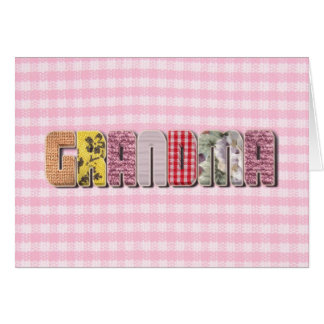 Patchwork Quilted Look For Grandma Card
