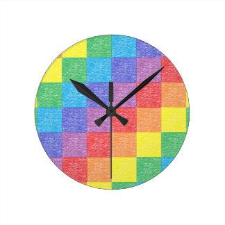 Patchwork Rainbow Clock